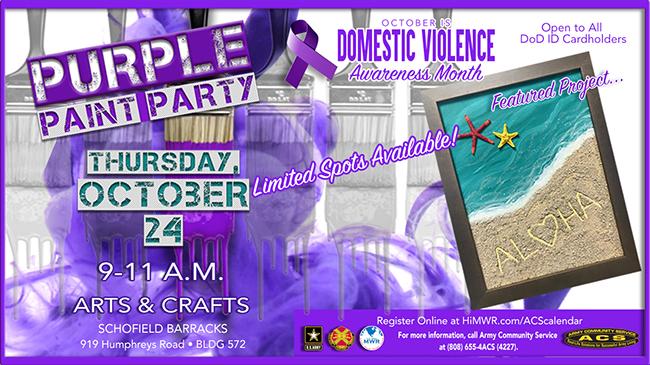 DVAM Purple Paint Party