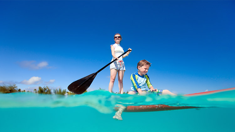 Mom & Me Stand up Paddle Boarding