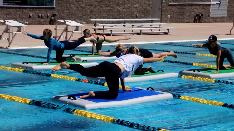 SUP Yoga in the Pool