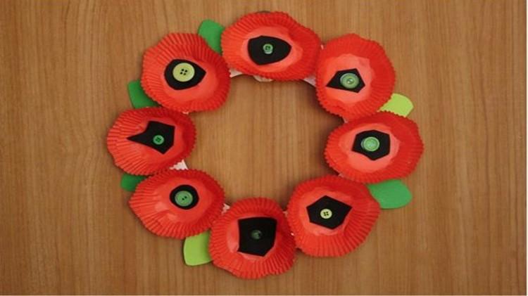 Poppy Wreath at SGT Yano Library