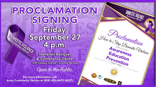 DVAM Proclamation Signing